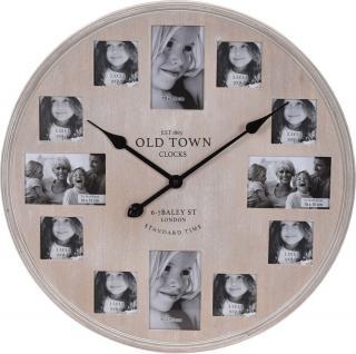Koopman Nástěnné hodiny 60 cm, fotorámečky - rozbaleno