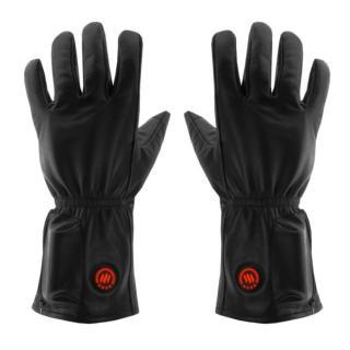 Kožené vyhřívané lyžařské a moto rukavice Glovii GIB černá - L-XL