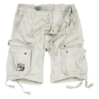 Kraťasy Airborne Vintage Shorts - bílé, S