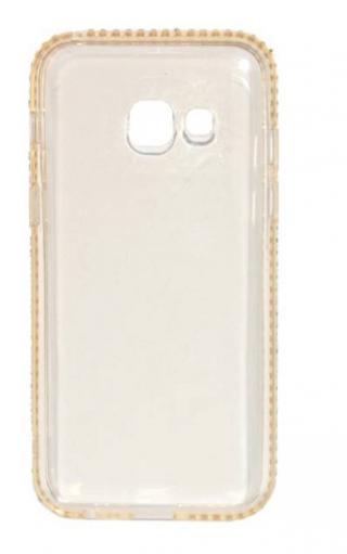 Kryt Beeyo Diamond Frame pro Samsung Galaxy A3 , zlatý