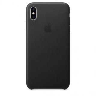 Kryt na mobil Apple Leather Case pro iPhone Xs černý