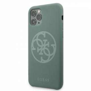 Kryt na mobil Guess 4G Silicone Tone pro iPhone 11 Pro Max zelený