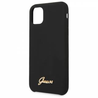 Kryt na mobil Guess Silicone Vintage pro iPhone 11 Pro Max černý