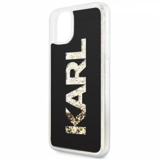 Kryt na mobil Karl Lagerfeld Glitter pro Apple iPhone 11 Pro Max černý/zlatý