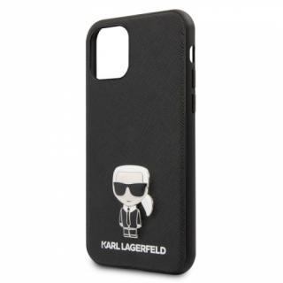 Kryt na mobil Karl Lagerfeld Saffiano Iconik pro Apple iPhone 11 černý