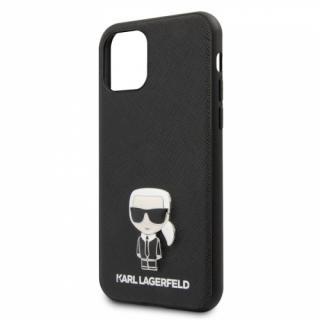 Kryt na mobil Karl Lagerfeld Saffiano Iconik pro Apple iPhone 11 Pro Max černý