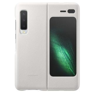 Kryt na mobil Samsung Leather Cover na Galaxy Fold bílý