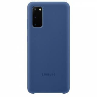 Kryt na mobil Samsung Silicon Cover pro Galaxy S20 modrý