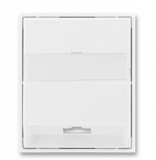 Kryt zásuvky ISDN koncové jednonásobné bílá/bílá, 5013E-A00251 03