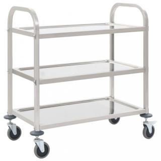 Kuchyňský vozík nerezová ocel Dekorhome 107x55x90 cm