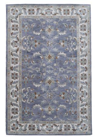 KUDOS Textiles Pvt. Ltd. Ručně všívaný vlněný koberec DO-1 - 160x230 cm Modrá