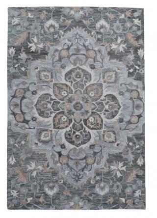 KUDOS Textiles Pvt. Ltd. Ručně všívaný vlněný koberec DO-12 - 160x230 cm Šedá