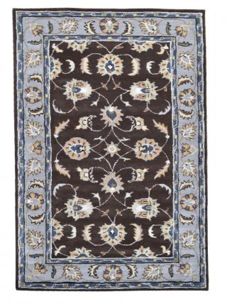 KUDOS Textiles Pvt. Ltd. Ručně všívaný vlněný koberec DO-14 - 160x230 cm Hnědá
