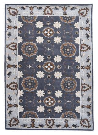 KUDOS Textiles Pvt. Ltd. Ručně všívaný vlněný koberec DO-15 - 160x230 cm Šedá