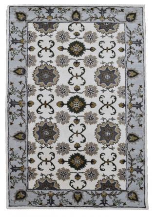 KUDOS Textiles Pvt. Ltd. Ručně všívaný vlněný koberec DO-16 - 160x230 cm Šedá