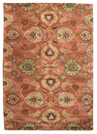 KUDOS Textiles Pvt. Ltd. Ručně všívaný vlněný koberec DO-17 - 160x230 cm Oranžová