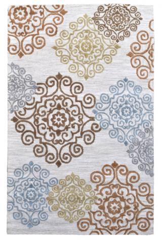 KUDOS Textiles Pvt. Ltd. Ručně všívaný vlněný koberec DO-2 - 160x230 cm Béžová