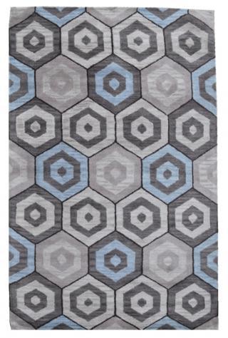 KUDOS Textiles Pvt. Ltd. Ručně všívaný vlněný koberec DO-20 - 160x230 cm Šedá