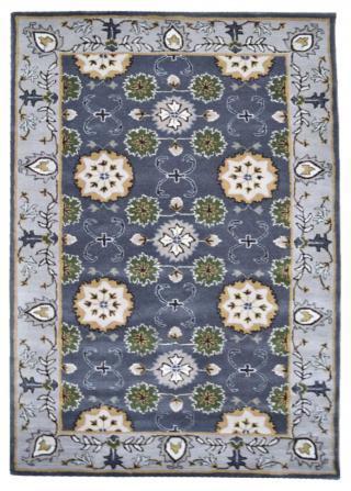 KUDOS Textiles Pvt. Ltd. Ručně všívaný vlněný koberec DO-22 - 160x230 cm Šedá