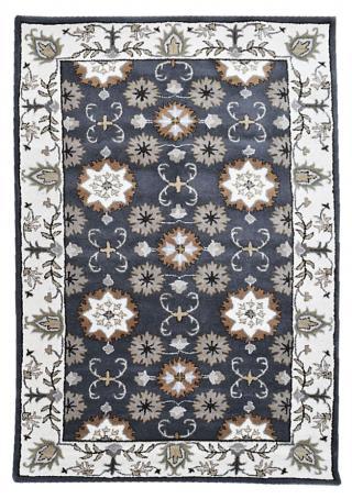 KUDOS Textiles Pvt. Ltd. Ručně všívaný vlněný koberec DO-23 - 160x230 cm Šedá