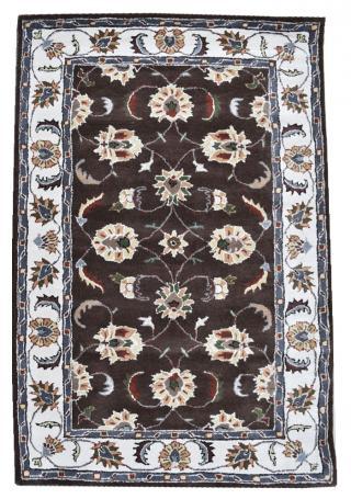 KUDOS Textiles Pvt. Ltd. Ručně všívaný vlněný koberec DO-24 - 160x230 cm Hnědá