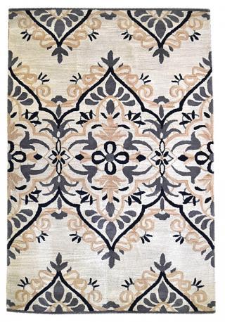KUDOS Textiles Pvt. Ltd. Ručně všívaný vlněný koberec DO-27 - 160x230 cm Béžová