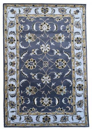KUDOS Textiles Pvt. Ltd. Ručně všívaný vlněný koberec DO-29 - 160x230 cm Šedá
