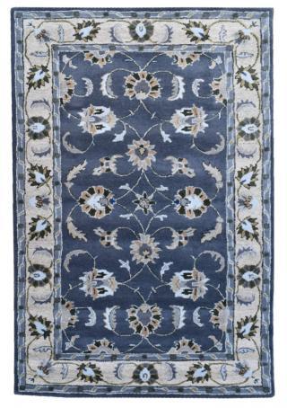 KUDOS Textiles Pvt. Ltd. Ručně všívaný vlněný koberec DO-30 - 160x230 cm Šedá