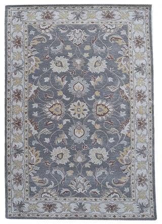 KUDOS Textiles Pvt. Ltd. Ručně všívaný vlněný koberec DO-35 - 160x230 cm Šedá