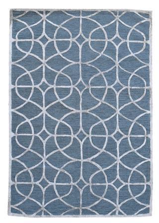 KUDOS Textiles Pvt. Ltd. Ručně všívaný vlněný koberec DO-37 - 160x230 cm Modrá