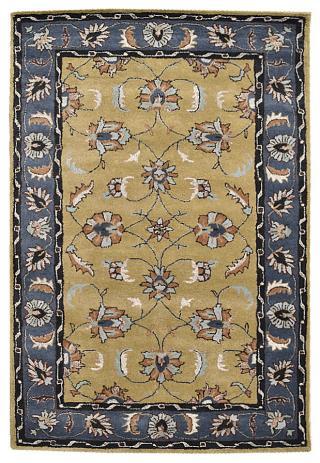 KUDOS Textiles Pvt. Ltd. Ručně všívaný vlněný koberec DO-38 - 160x230 cm Žlutá