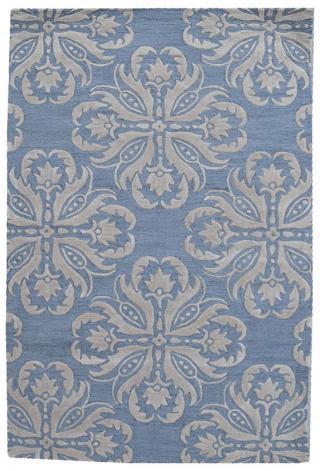 KUDOS Textiles Pvt. Ltd. Ručně všívaný vlněný koberec DO-39 - 160x230 cm Modrá