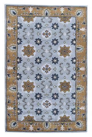 KUDOS Textiles Pvt. Ltd. Ručně všívaný vlněný koberec DO-41 - 160x230 cm Žlutá