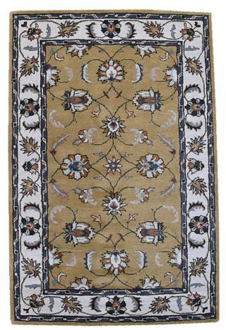 KUDOS Textiles Pvt. Ltd. Ručně všívaný vlněný koberec DO-43 - 160x230 cm Žlutá