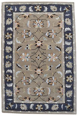 KUDOS Textiles Pvt. Ltd. Ručně všívaný vlněný koberec DO-44 - 160x230 cm Béžová
