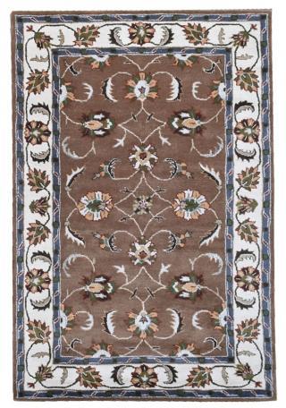 KUDOS Textiles Pvt. Ltd. Ručně všívaný vlněný koberec DO-46 - 160x230 cm Hnědá