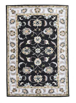 KUDOS Textiles Pvt. Ltd. Ručně všívaný vlněný koberec DO-5 - 160x230 cm Černá