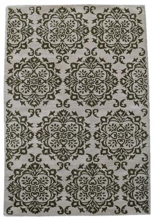 KUDOS Textiles Pvt. Ltd. Ručně všívaný vlněný koberec DO-50 - 160x230 cm Béžová