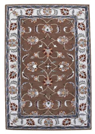 KUDOS Textiles Pvt. Ltd. Ručně všívaný vlněný koberec DO-51 - 160x230 cm Hnědá