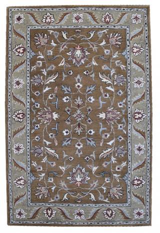 KUDOS Textiles Pvt. Ltd. Ručně všívaný vlněný koberec DO-52 - 160x230 cm Hnědá