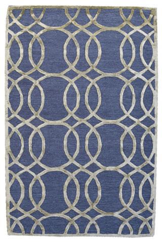 KUDOS Textiles Pvt. Ltd. Ručně všívaný vlněný koberec DO-54 - 160x230 cm Modrá