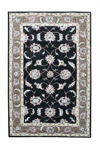 KUDOS Textiles Pvt. Ltd. Ručně všívaný vlněný koberec DO-6 - 160x230 cm Černá