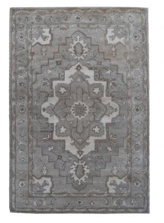 KUDOS Textiles Pvt. Ltd. Ručně všívaný vlněný koberec DO-9 - 160x230 cm Šedá