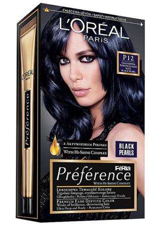 L´Oréal Paris Barva na vlasy Préférence Black Pearls - SLEVA - poškozená krabička P12 Black Blue
