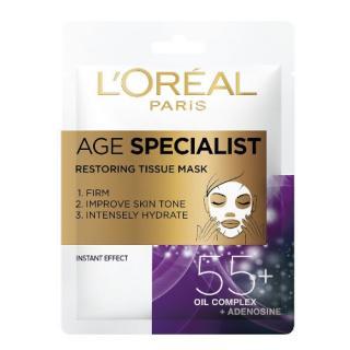 L´Oréal Paris Textilní maska pro intenzivní vypnutí a rozjasnění pleti Age Specialist 55   1 ks