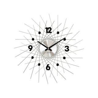 Lavvu LCT1052 Nástěnné hodiny Crystal Lines 49 cm, stříbrná