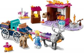 LEGO Disney Princess 41166 Elsa a dobrodružství s povozem - rozbaleno