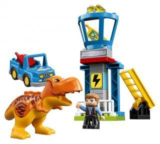 Lego Jurassic World T. rex a věž