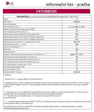 LG F4TURBO9S   10 let záruka na motor - použité