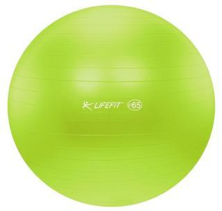 LIFEFIT Gymnastický míč ANTI-BURST 65 cm zelený - zánovní